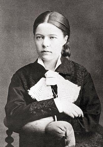 Selma Lagerlöf - Anna Ollson, Karlstad: Photograph of future writer Selma Lagerlof, taken in 1881