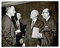 Senators Mathias and Hill and Doctors Lyons and DeBakey converse at the National Library of Medicine Dedication Ceremony.jpg