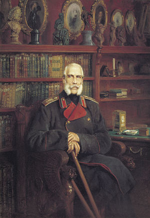 Sergei Grigoryevich Stroganov - A portrait of Sergei Stroganov in his later years by Konstantin Makovsky, 1882