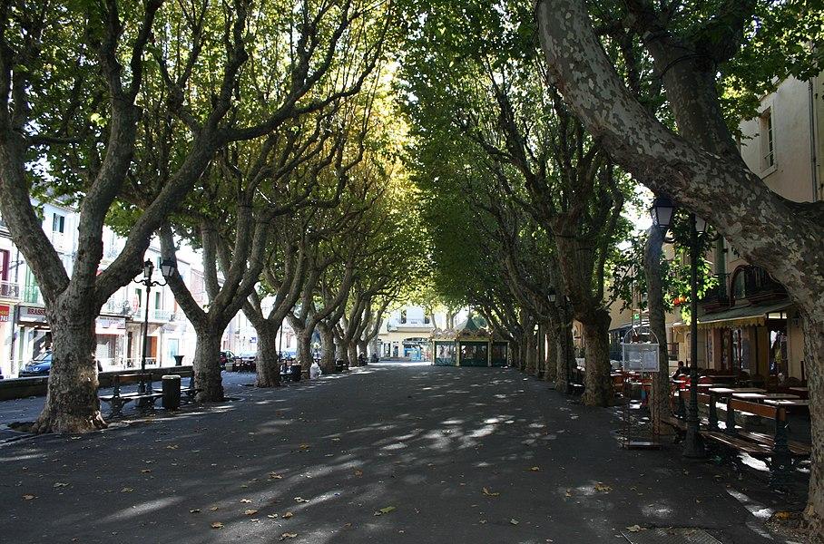 Sérignan (Hérault) - promenade.