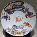 Shallow bowl with genre scene, Japan, Arita, Edo period, 1700-1740s AD, enamelled Imari ware - Matsuoka Museum of Art - Tokyo, Japan - DSC07218.JPG