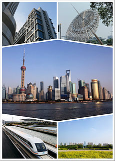 Pudong District & State-level new area in Shanghai, Peoples Republic of China