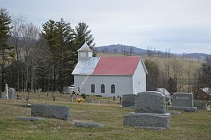 Sharon Lutheran Church and Cemetery - Overview from the west