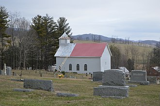 National Register of Historic Places listings in Bland County, Virginia - Image: Sharon Lutheran Church near Ceres