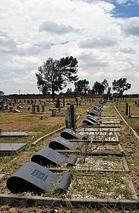 Sharpeville Massacre Graves, Phelindaba Cemetery, Sharpeville, Vereenegining, South Africa.jpg
