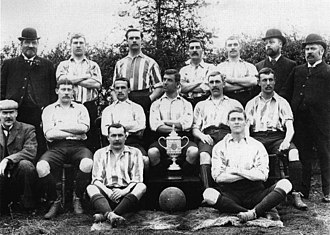 Sheffield Wednesday F.C. - Sheffield Wednesday players posing with the FA Cup won in 1896