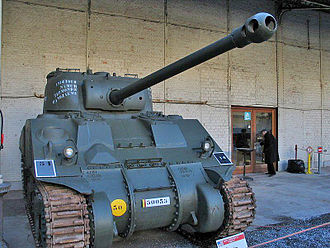Lend-Lease Sherman tanks - Sherman VC with British 17 pdr gun. Compare to 75 mm gun Sherman at the top of this page.