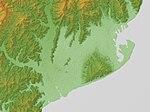 Shizuoka Plain Relief Map, SRTM-1.jpg