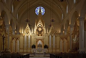 Shrine of the Most Blessed Sacrament - The altar.