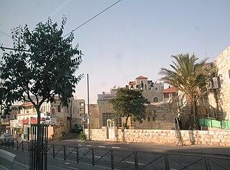 Shuafat - Main street of Shu'fat,