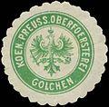Siegelmarke Koen. Preuss. Oberfoersterei Golchen W0334489.jpg