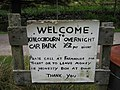 Sign at Kinloch Hourn Car Park - geograph.org.uk - 1573579.jpg
