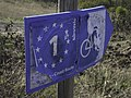 Sign for the Eurovelo 1 bike route in Portugal (27851707739).jpg