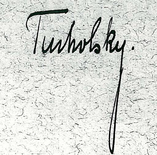 Signatur Kurt Tucholsky