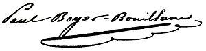 Signature de Pierre Paul Henri Dominique Boyer de Bouillane
