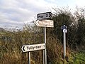 Signs at Derryscollop - geograph.org.uk - 1616807.jpg