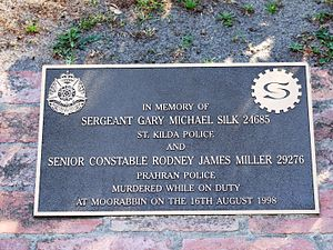 Silk-Miller Memorial Plaque at the Prahran Pol...