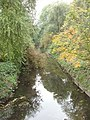 Silk Stream with reflected foliage, The Hyde - geograph.org.uk - 64645.jpg