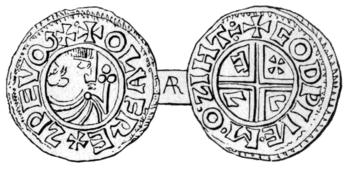 Srebrna moneta wybita dla Olofa Skötkonunga