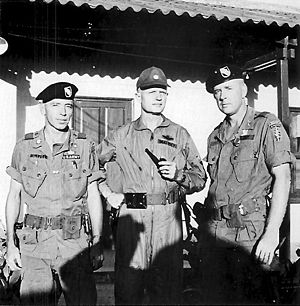 Eugene Peyton Deatrick - Charles M. Simpson, Eugene P. Deatrick, and Lee Parmly, Pleiku, South Vietnam, November 1966