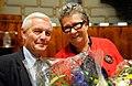 Sinikka Bohlin (S) nyvald presdident for Nordiska radet och Kent Olsson (M) nyvald vicepresident vid Nordiska radets session i Helsingfors 2008-10-29.jpg