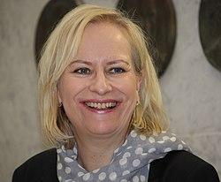Sinikka Nopola Kirjan ja ruusun päivänä Akateemisessa kirjakaupassa Helsingissä 2012