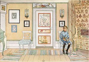 Child discipline - Time-out, painting by Carl Larsson