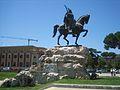 Skanderbeg Monument, Tirana.jpg