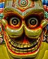 Skull mask detail at the Tibet Museum of Lhasa, 尸陀林面具 (cropped).jpg