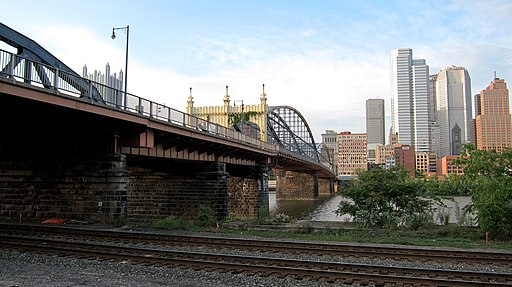 Smithfield Street Bridge from Three Rivers Heritage Trail, Pittsburgh