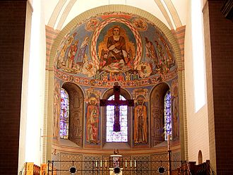 St. Patrokli, Soest - 1954 apse following the High Middle Ages model