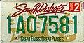 South Dakota 2000 license plate - 1A07581.jpg