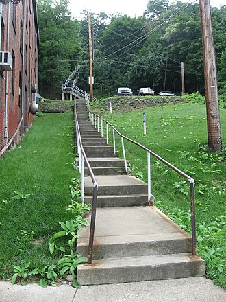 Steps of Pittsburgh - Typical steps in the South Side