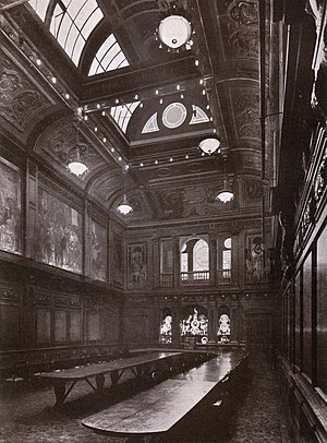 Worshipful Company of Skinners - Inside Skinners' Hall (after 1900)