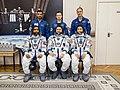 Soyuz MS-15 prime and backup crews in the Integration Building.jpg