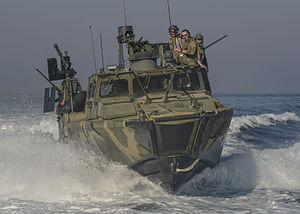 2016 U.S.–Iran naval incident - A US Navy riverine command boat in the Persian Gulf in 2013.