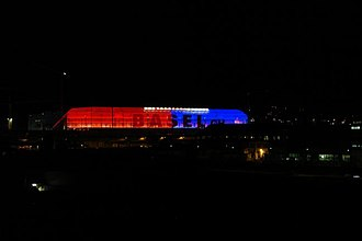 FC Basel - St. Jakob-Park at night