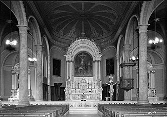 Basilica of St. Joseph Proto-Cathedral - Interior showing altar
