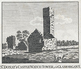 St. Donat's castle watch tower, in Glamorgans