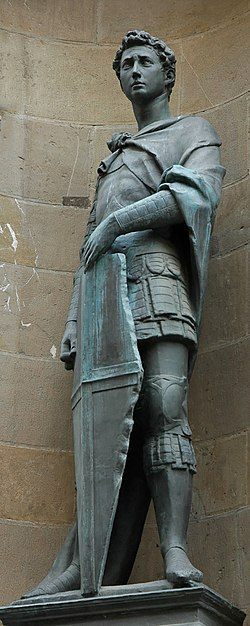 Statue of St. George in Orsanmichele, Florence.