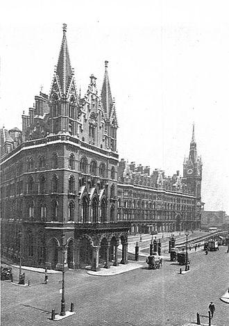 St. Pancras Renaissance London Hotel - Image: St Pancras station, London (CJ Allen, Steel Highway, 1928)