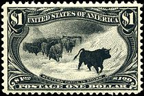 "Western Cattle in Storm, $1.00, ""Black Bull"""