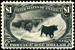"Western Cattle in Storm - ""Western Cattle in Storm"""