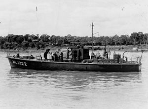 Harbour Defence Motor Launch - Image: State Lib Qld 1 79147 Royal Australian Naval ship ML 1322 at Colmslie Naval Base, Brisbane, ca. 1944
