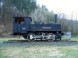 Wiener Neustädter Lokomotivfabrik - Image: Steam locomotive Csingervölgy in Csingervögy, Ajka