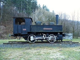 Wiener Neustädter Lokomotivfabrik - 1890 locomotive Csingervölgy in Csingervölgy, Ajka, Hungary