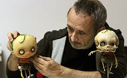 Stefano Bessoni Italian Filmmaker Illustrator And Stop Motion Animator Working On Gallows Songs 2014