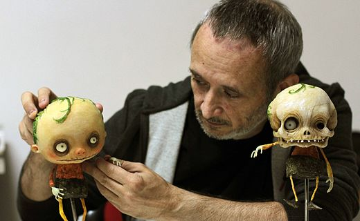Stefano Bessoni, Italian filmmaker, illustrator and stop-motion animator working on Gallows Songs (2014) Stefano Bessoni Canti 2014.jpg