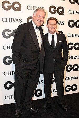 Steve Vizard - Vizard (left) with GQ editor Nick Smith in 2011
