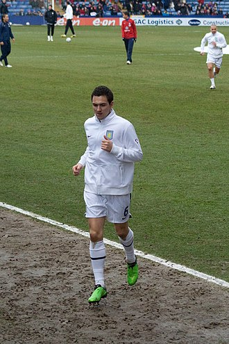Stewart Downing - Downing playing for Aston Villa in 2010